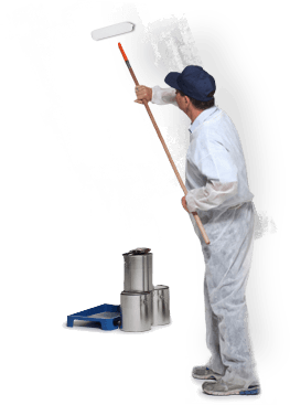 Painter Painting A Wall In Birmingham